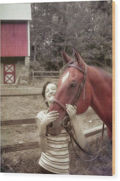 Horse Crazy Wood Print by JAMART Photography