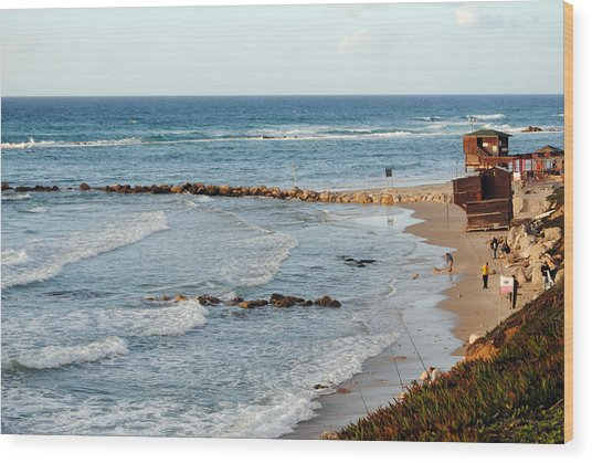 Jaffa Beach 7 Wood Print