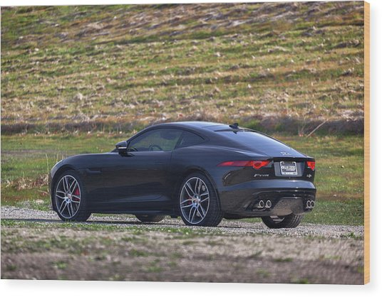 Wood Print featuring the photograph #jaguar #f-type #print by ItzKirb Photography