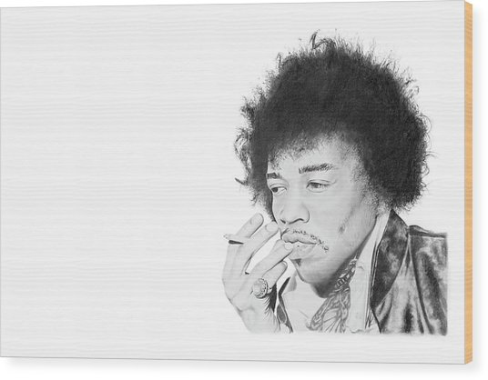 Jimi Hendrix Wood Print by Don Medina
