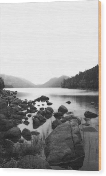 Jordan Pond Wood Print