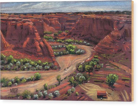 Junction Canyon De Chelly Wood Print by Donald Maier