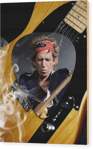 Keith Richards The Rolling Stones Art Wood Print