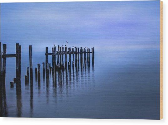 Colorful Overcast At Twilight Wood Print