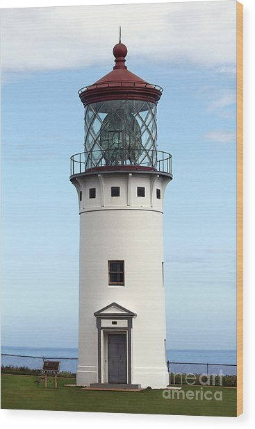 Kilauea Lighthouse On Kauai Wood Print