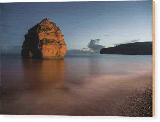 Ladram Bay In Devon Wood Print