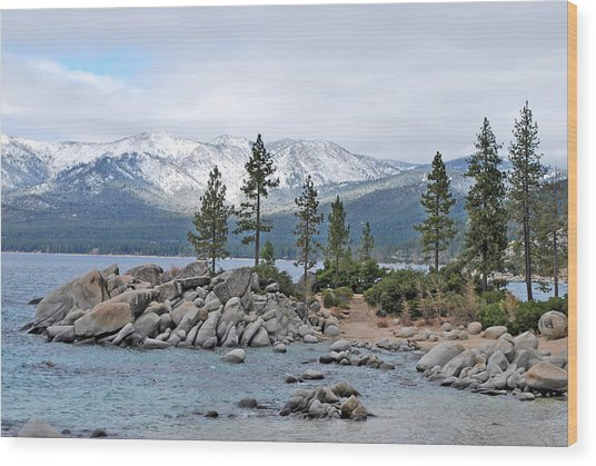 Lake Tahoe Wood Print by Linda Sramek