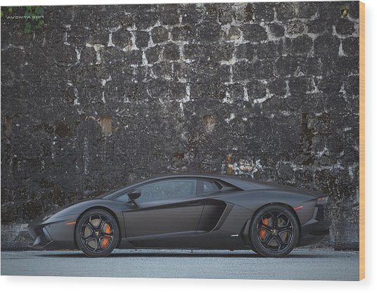 Wood Print featuring the photograph #lamborghini #aventador  by ItzKirb Photography