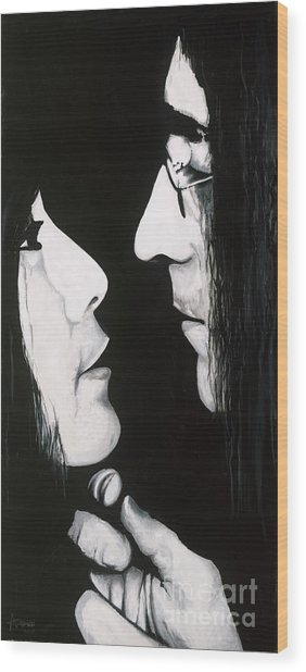 Lennon And Yoko Wood Print