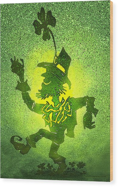 Leprechaun Wood Print