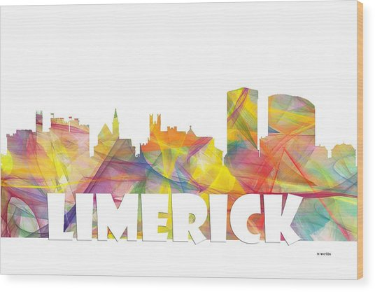 Limerick Ireland Skyline Wood Print