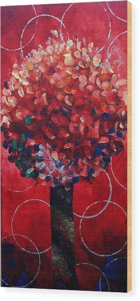 Lollipop Tree Red Wood Print