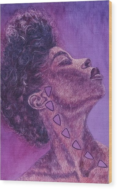 Madame Zasha Wood Print by Shahid Muqaddim