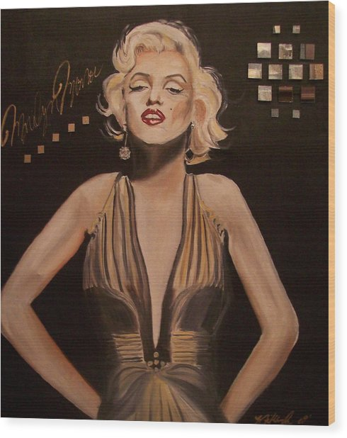 Marilyn Monroe  Wood Print by Mikayla Ziegler