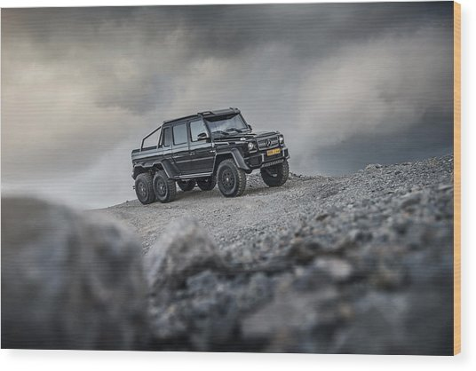 Mercedes G63 6x6 In Oman Wood Print