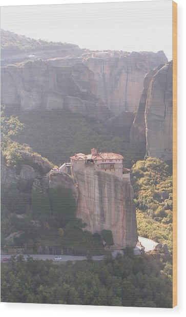 Meteora Greece Wood Print