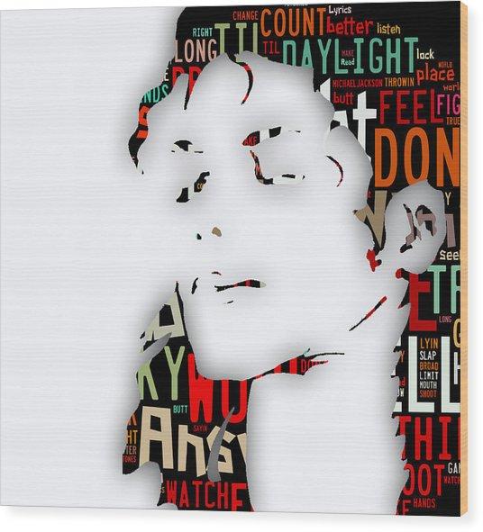 Michael Jackson I'm Bad Wood Print