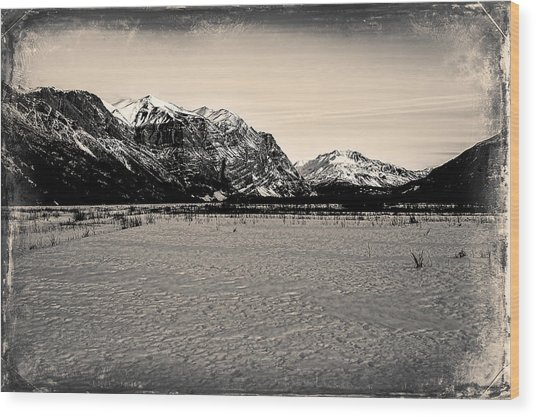 Wood Print featuring the photograph Mile High Cliffs by Fred Denner