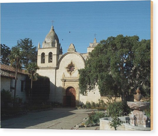 Mission Carmel Wood Print