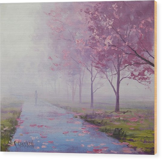 Misty Pink Wood Print