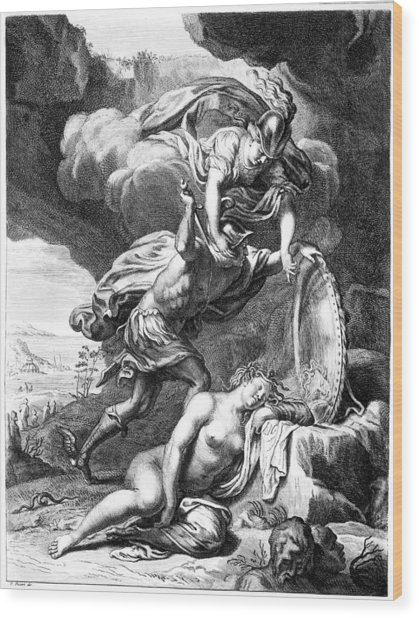 Mythology: Perseus Wood Print