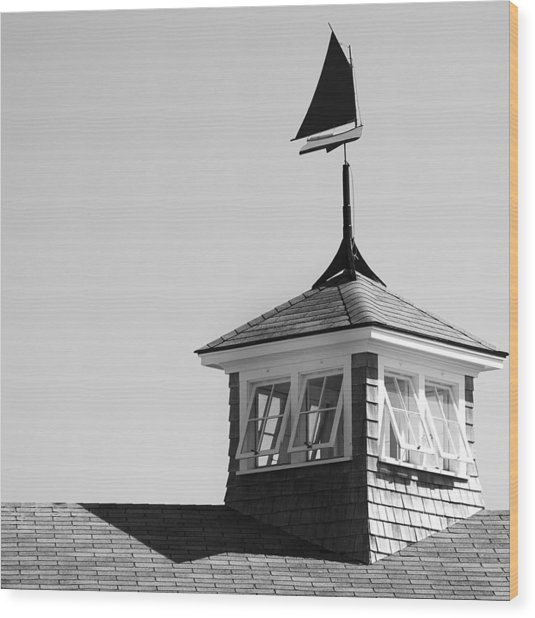 Nantucket Weather Vane Wood Print