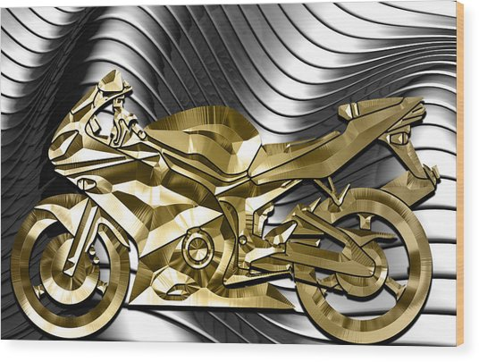 Ninja Motorcycle Collection Wood Print