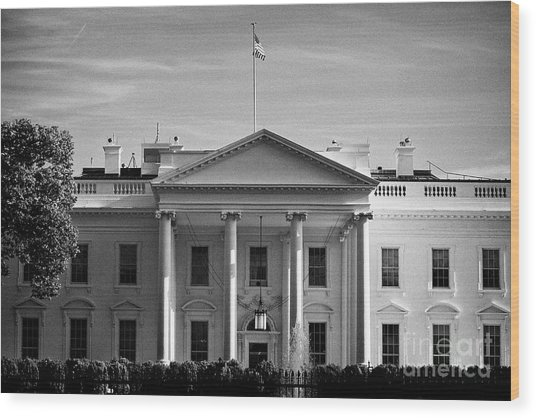 northern facade of the white house Washington DC USA Wood Print