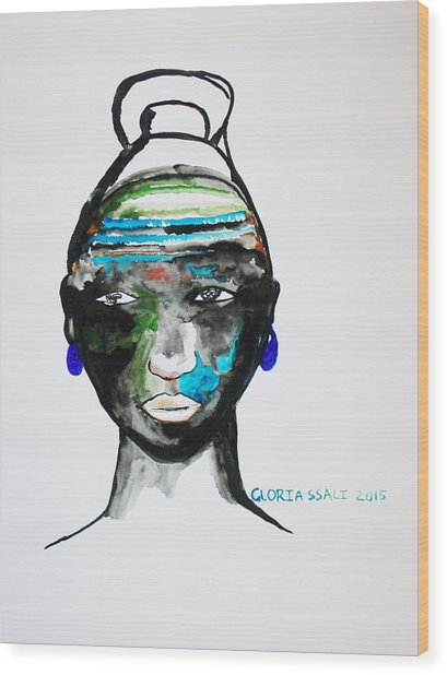 Nuer Bride - South Sudan Wood Print