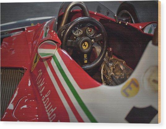 Number 11 By Niki Lauda #print Wood Print