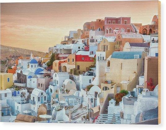 Oia, Santorini - Greece Wood Print