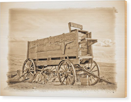 Old West Wagon  Wood Print