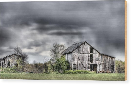 Ominous  Wood Print by JC Findley