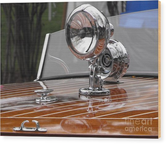 1050's Outboard Runabout Wood Print