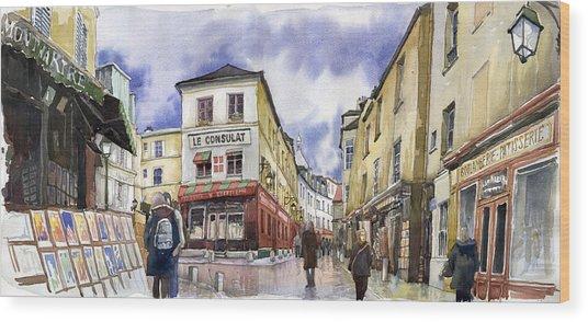 Paris Montmartre  Wood Print