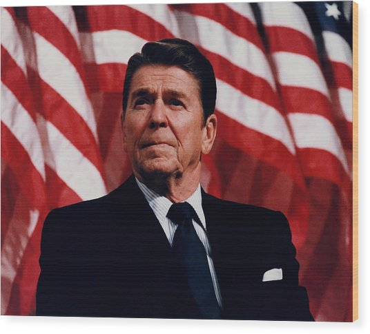 President Ronald Reagan Wood Print