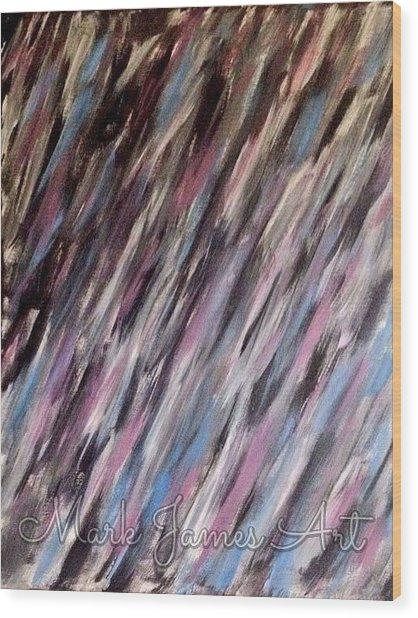 Purple Rain Wood Print by Mark James