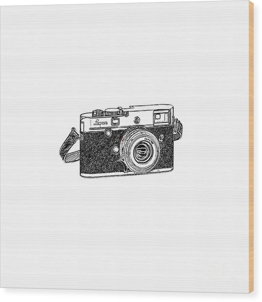 Rangefinder Camera Wood Print