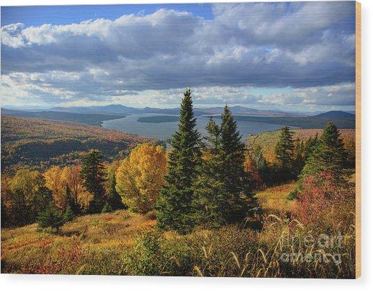 Rangeley Overlook Wood Print