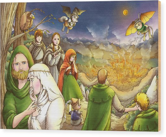 Robin Hood And Matilda Wood Print