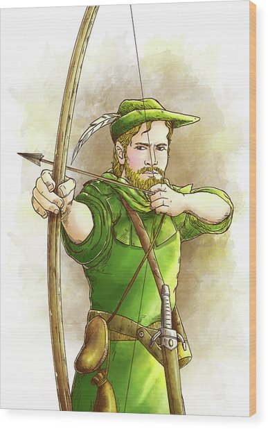 Robin Hood The Legend Wood Print