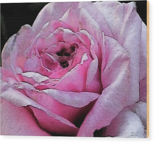 Rose Wood Print by Michele Caporaso