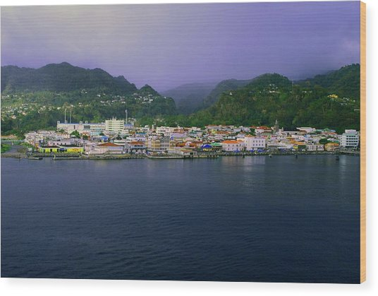 Roseau Dominica Wood Print