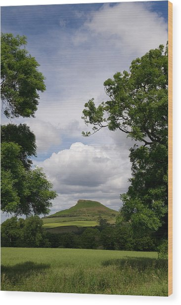 Roseberry Topping Wood Print
