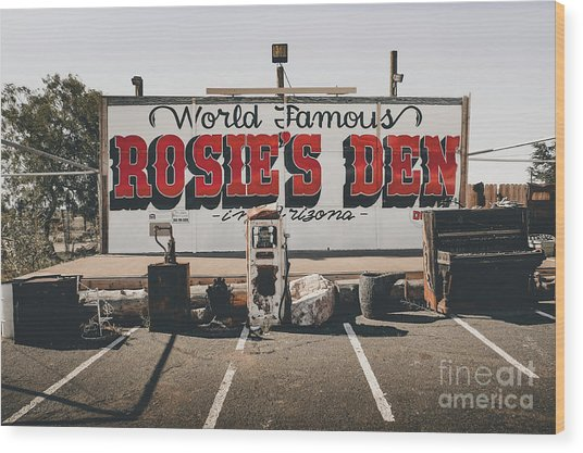 Rosies Den Cafe  Wood Print
