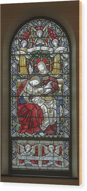 Saint Anne's Windows Wood Print