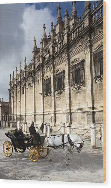 Sevilla Wood Print by Andre Goncalves
