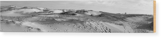 Sleeping Bear Dunes Panorama Wood Print by Twenty Two North Photography