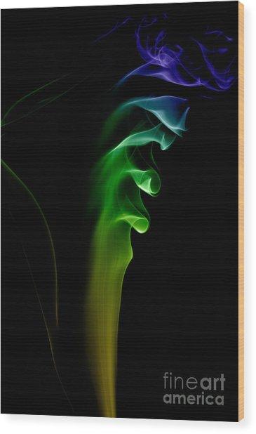 smoke XXVI Wood Print
