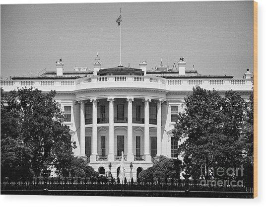 south facade of the white house Washington DC USA Wood Print